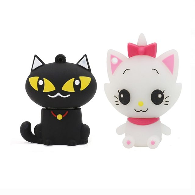 High Speed Cute Cat Shaped USB Flash Drive Storage Device