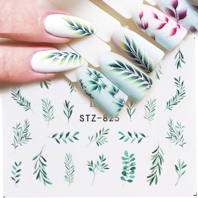 Flower Leaf Nail Decal and Sticker