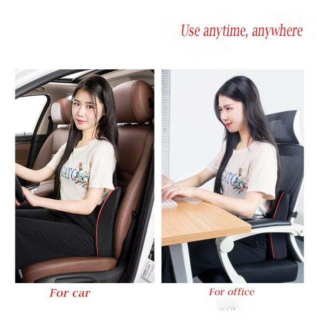 Breathable Hole Massage Lumbar Cushion For Car and Office Seat